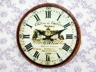 Cork Kitchen Clock