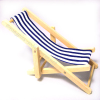 Blue Deck Chair - THICK STRIPE
