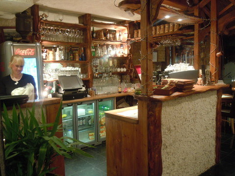 Reception and bar at Folvark Polish Restaurant London Hounslow