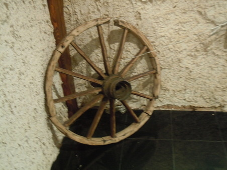 Wooden wheel Folvark Polish Restaurant London Hounslow