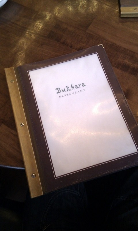 Bukhara Maza restaurant Osterley London Menu book