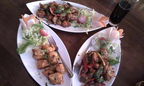 Bukhara Maza restaurant Osterley London starters picture 2