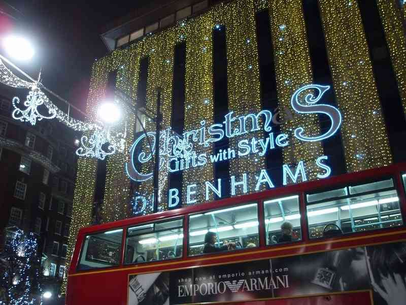 Christmas lights in london pics