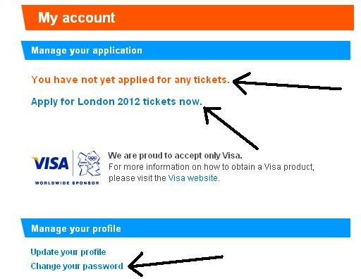 London olympics apply for tickets
