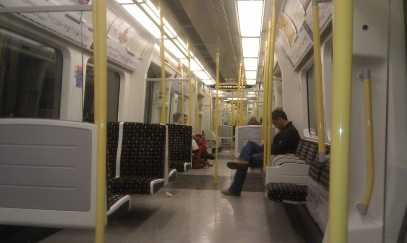 Brand-new-tubes-on-metropolitan-line-london