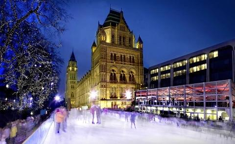 natural history museum ice skating pic