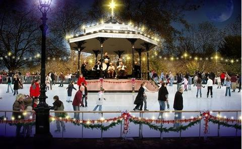 hyde park ice skating pic