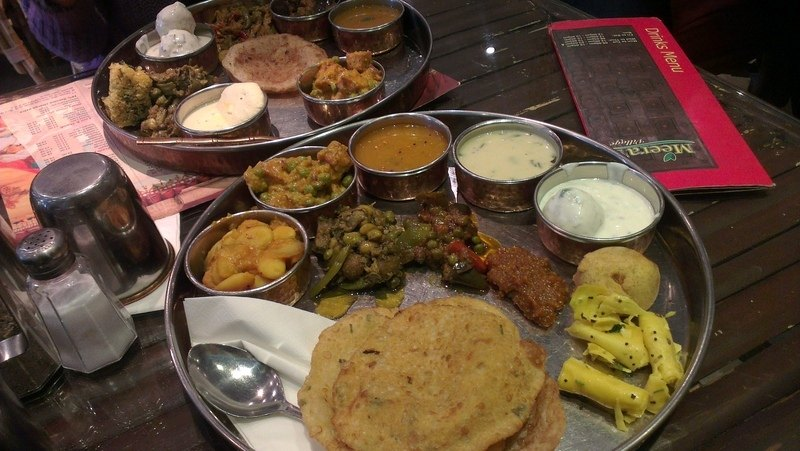 Meeras village food thali