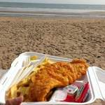 Bournemouth - Fish and Chips on sandy beach