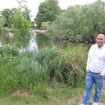 Clapham Common in London pond