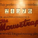 longest running play Mousetrap in  St Martins theatre