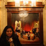 Shruti and portrait in St Martins theatre1