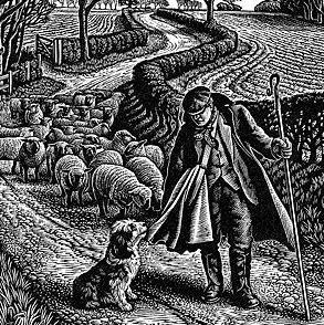 linocut shepherd