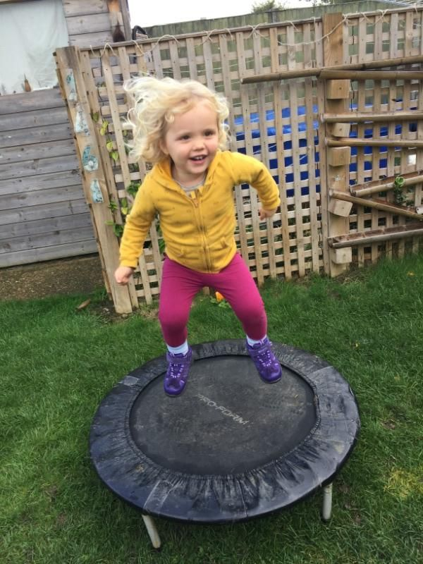 Bouncing in the garden
