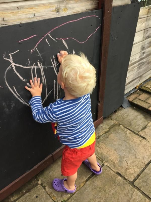 Chalking in the garden