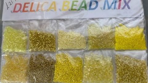 Mixed Yellow Delica Bead Pack