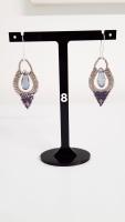 Moroccan Lamp Crystal Earrings