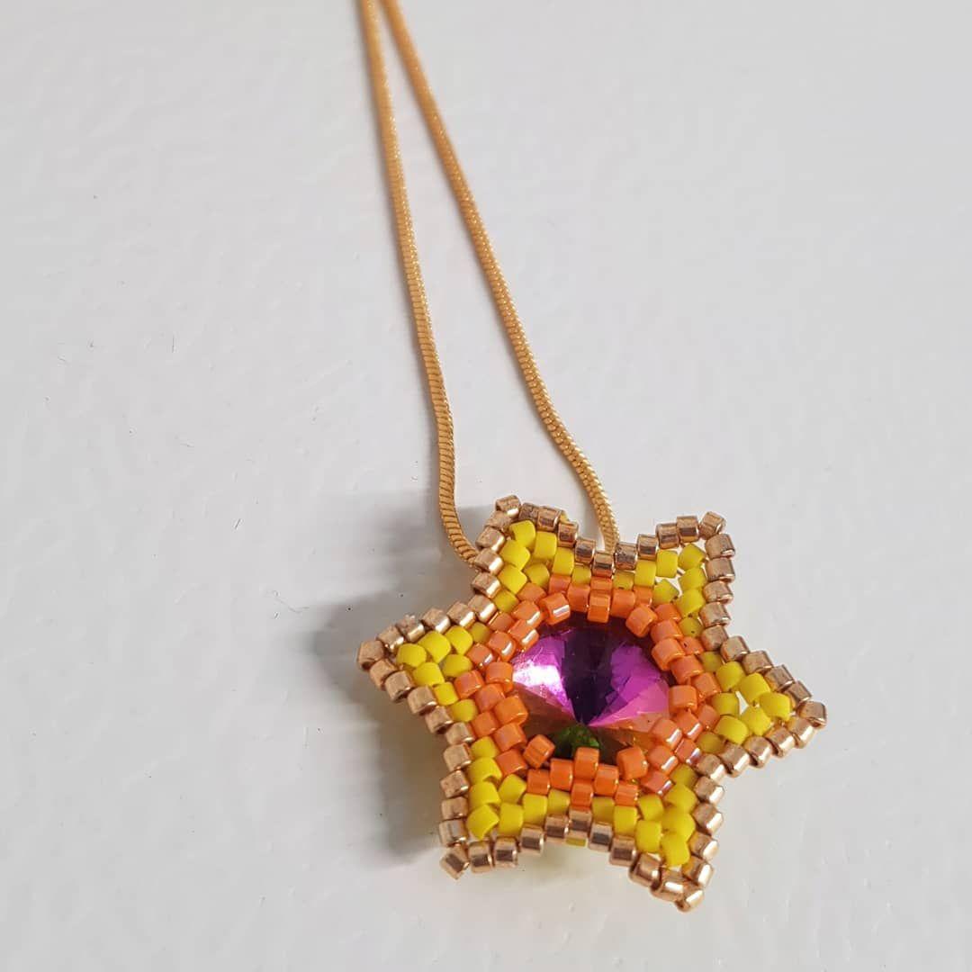 Gold Edged Flower Pendant