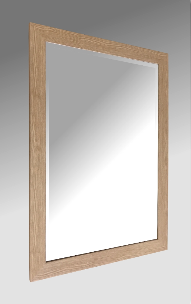 Light Oak Effect Framed Mirror.   100x69cm