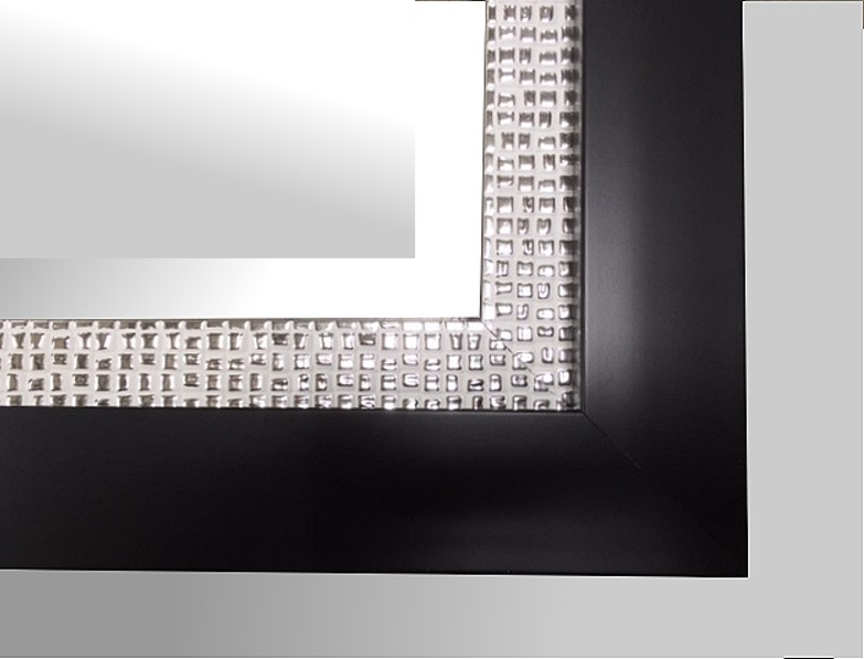 Black and Silver Mosaic Frame
