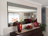 Manhattan Large Contemporary Smoked Mirror 180x90cm