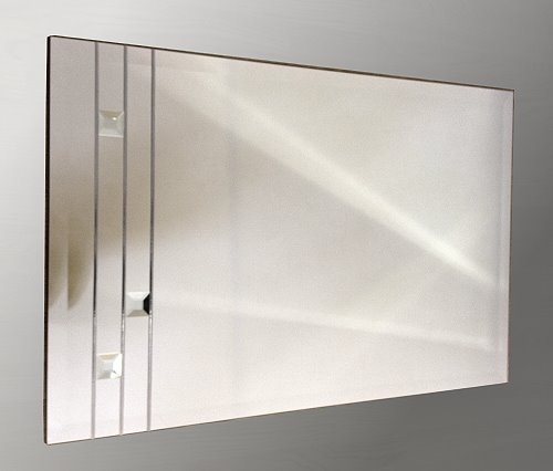 Leaded Clear Squares 48X24 Bevelled Frameless Mirror