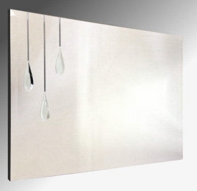 Triple Droplet Bevelled Frameless Mirror. 92X61cm