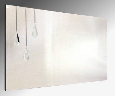 Triple Droplet Bevelled Frameless Mirror. 122X61cm