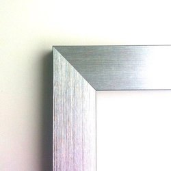 Brushed Silver Flat Frame