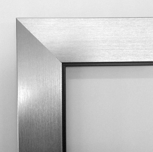 Flat Pewter Brushed Frame