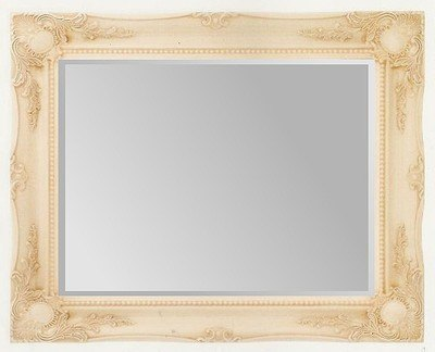 Cream Swept Bevelled Mirror 30X20