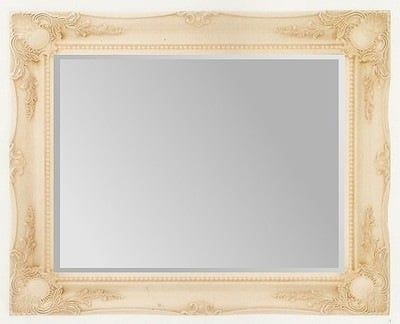 Cream Swept Bevelled Mirror 36X24