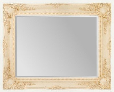 Cream Swept Bevelled Mirror 40X30
