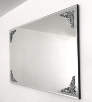 Rome Silver Bevelled Mirror