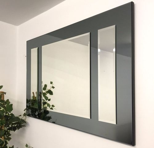 Smoked Glass Venetian Mirror