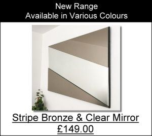 stripe Bronze Clear Mirror