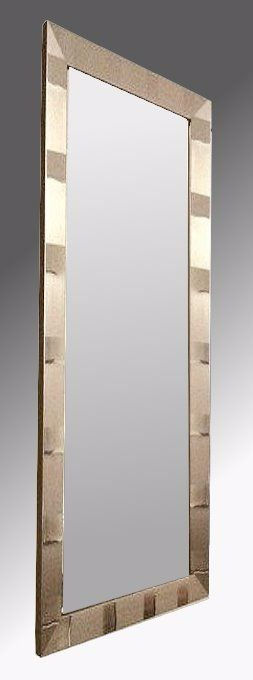 Tivoli Brushed Pewter Framed 12X36 Unbevelled Mirror