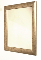 Soft Gold Distressed Mid Size Mirror.  Overall Size. 50x60cm