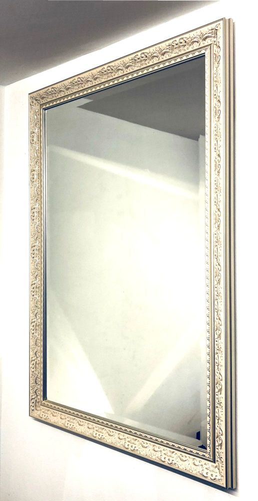 Cream and Champagne Mirror.  Overall size. 87x62cm