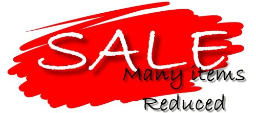 SALE MANY ITEMS REDUCED