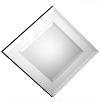 Diamond Double Bevelled Small Mirror 64X64cm