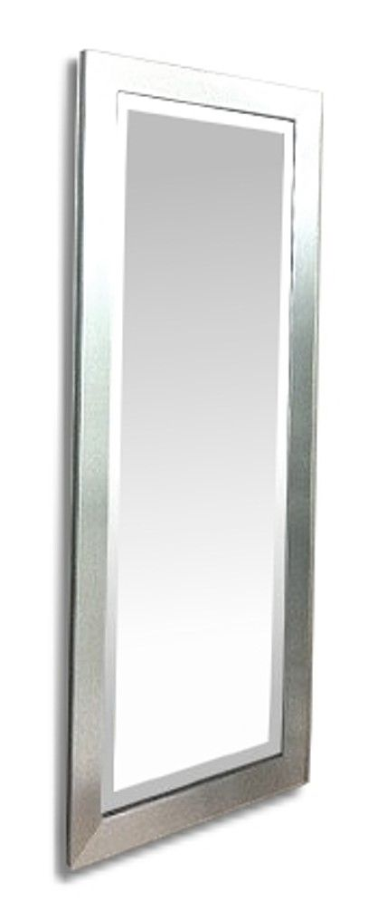 Flat Silver Framed 12X36 Bevelled Mirror