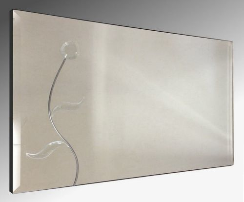 Flower Wall Mirror 122X61cm Bevelled Frameless Mirror.