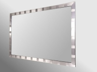 Tivoli Brushed Pewter Framed 30X20 Unbevelled Mirror