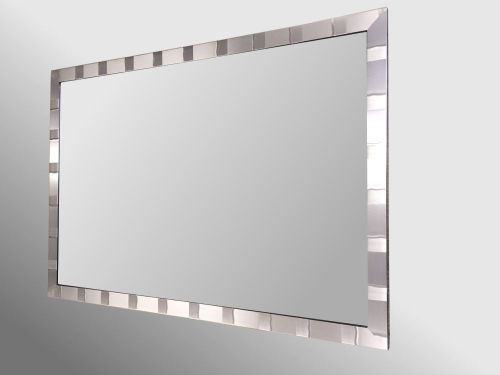 Tivoli Brushed Pewter Framed 36X24 Unbevelled Mirror