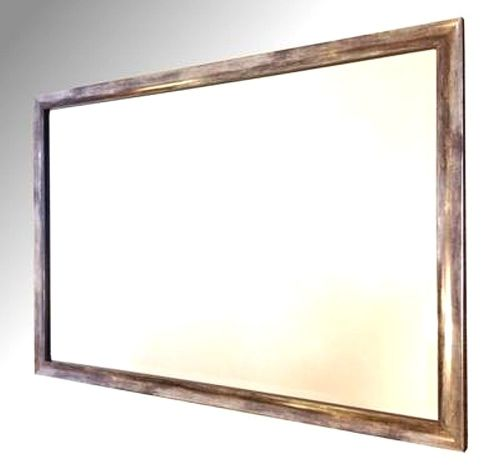 Silver Distressed Framed 36X24 Bevelled Mirror