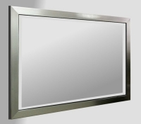 Flat Pewter Framed 36X24 Bevelled Mirror