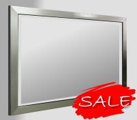 Flat Pewter Framed 30X20 Bevelled Mirror