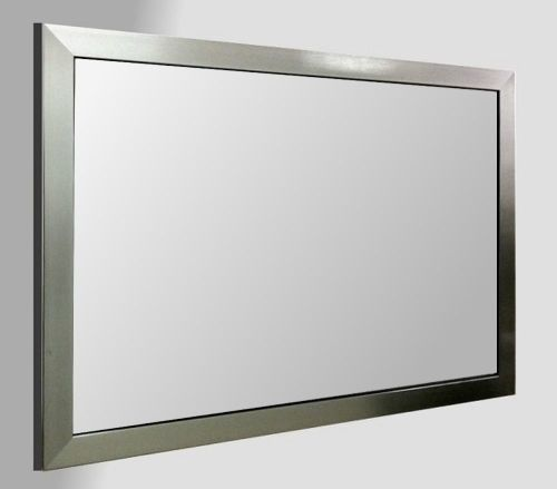 Flat Pewter Framed 30X20 Unbevelled Mirror