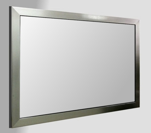 Flat Pewter Framed 36X24 Unbevelled Mirror